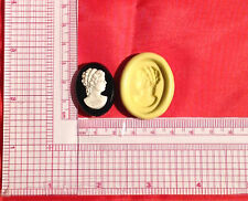 Woman Cameo Silicone Push Mold A827 For Fondant Chocolate Resin Clay Candy Soap