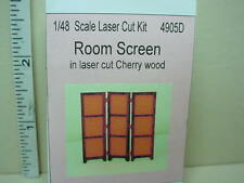 """Dollhouse Miniature Room Divider Screen Kit  1/4"""" (1:48) scale - #4905D"""