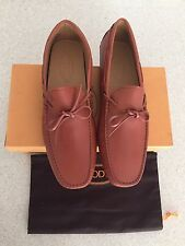 Brand New w Box AUTHENTIC  New Gommini Tod's Tan Tie Drivers For Men - US 11.5