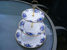 Royal Albert MOONLIGHT ROSE three tier cake stand