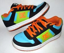 MENS DC SHOES TURQUOISE/ORANGE SKATEBOARD SNEAKERS SHOES SIZE 8