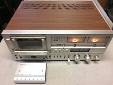 Hitachi D-5500 Stereo Cassette Recorder with Remote & Original French Manual