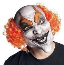 NWT-Ghoul Adult Kids Devilish Clown Soft Vinyl Mask & Wig Halloween Accessory