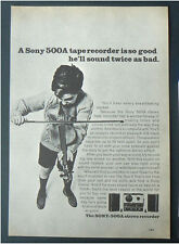 1964 vintage ad SONY 500A stereo TAPE RECORDER original advertisement reel to