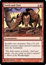 TOOTH AND CLAW Commander 2013 MTG Red Enchantment RARE