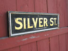 ANTIQUE TRADE OR STREET SIGN GOLD SILVER ST LOWELL MA BOSTON ? MANCHESTER NH ?
