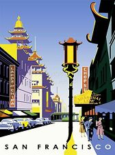ART PRINT POSTER TRAVEL SAN FRANCISCO VINTAGE DRAWING NOFL1138