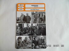 CARTE FICHE CINEMA 2013 NEBRASKA Bruce Dern Will Forte June Squibb Bob Odenkirk