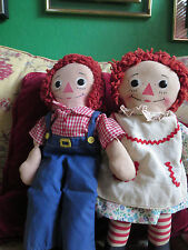 Vintage Raggedy Ann and Andy dolls, made for the Knickerbocker