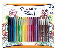Paper Mate Flair Pens Assorted Colors Tip Flair Pens Bold lines Pack of 20