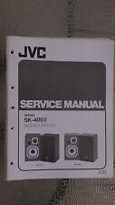 JVC sk-400 s II service manual original repair book stereo radio house speaker