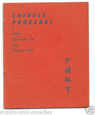 1941 Pocket Book - CHINESE PROVERBS - H.T. Morgan, Quon-Quon Company