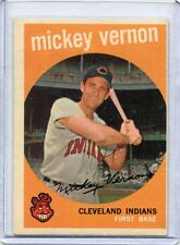 1959 Topps Baseball Card Mickey Vernon Cleveland Indians Excellent # 115