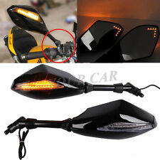 Motorcycle Integrated LED Turn Signal Mirrors For Suzuki C50 SE C50T M109R S40