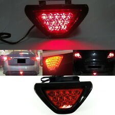 F1 style Third Red Flashing Blinker 12 LED Tail Brake Stop Light Safety Fog Lamp