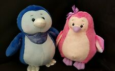 Webkinz PLUSH ONLY LOT of 2 : ICE PENGUIN + PINK ICED PENGUIN - JUST the  PLUSH