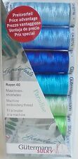 GUTERMANN MACHINE EMBROIDERY RAYON 40  'PARADISE'   THREAD SET/PACK