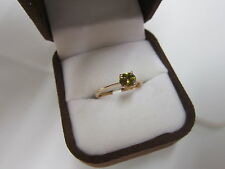 BEAUTIFUL ESTATE 14 KT GOLD  DEMANTOID GARNET RING !!!!!!!!!!