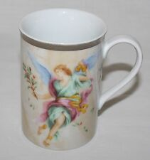 Angel in Green Dress Mug Charter Club Home Grand Buffet Gold Blue Wings Bells
