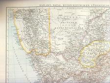 Südafrika, Lüderitzland, Deutsch-Südwest, Landkarte 1:6 Mio, Kaiserreich 1887