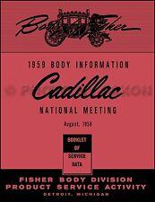 1959 Cadillac Body Training Manual 59 Eldorado Deville Series 62 60 Fleetwood 75