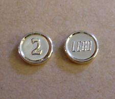 2 Lego Münzen silber 2 Mark Zubehör für Figuren ( Geld Schatz Taler ) Neu