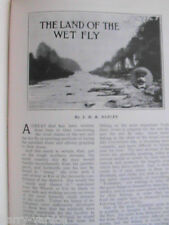 Trout Fishing Wet Fly Yorkshire Rivers Streams Rare Old Antique Article 1908
