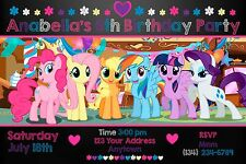 MY LITTLE PONY Birthday party invitations personalized custom