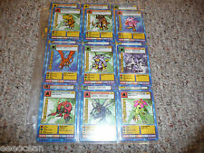 digimon card series 1 english starter set complete full set,St-01 to St-62