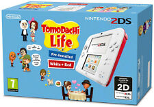Nintendo 2DS White+Red Console + Tomodachi Life Game Bundle IT IMPORT NINTENDO