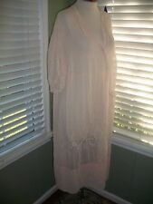 WOMEN'S EDWARDIAN TEENS TITANIC ERA PALE PINK LAWN & EMBROID DRESS L XL