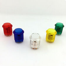 5x New 24mm LED Illuminated 5V Push buttons Built-in switch for Arcade Games Kit