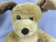 BUILD A BEAR PUPPY DOG BROWN TWO TONE EARS SITS DOWN SOFT PLUSH STUFFED ANIMAL