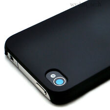 Black Ultra Thin Rubberized Matte Hard Case Cover iPhone 4G 4S w/ Screen Guard