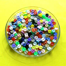 200 Wholesale Mixed Lot Mini Tiny Micro Doll Figure Clothes Sewing Button 5mm S1