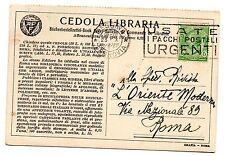 1928 REGNO 5 CENTESIMI SU CEDOLA LIBRARIA MESSINA 23/10 C/6491