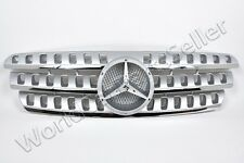 MERCEDES ML Class W163 1998-2005 Front Silver Grill Central Grille