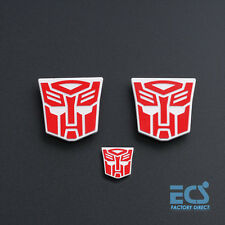3PCS Transformers MPP10 Optimus Prime + Trailer Logo Symbol Decal Emblem MP10 .
