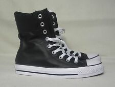 CONVERSE ALL STAR X-HI LEATHER BLACK SNEAKERS WOMENS SIZE 8  / MENS SIZE 7
