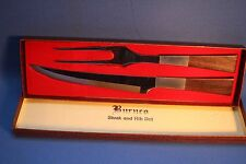 VINTAGE BURNCO MEAT CARVING SET - KNIFE & FORK - JAPAN