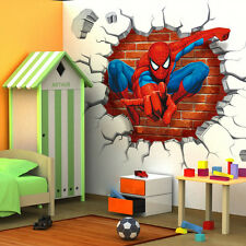 3D Spider man kids room decor Wall sticker gift wall decals Nursery Mural FR*