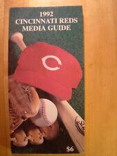 Cincinnati Reds  1992 Information Media Press Guide MLB Baseball