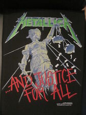 "Metallica ""...And Justice For All"" original 1988 vintage Backpatch NEW Heavy"
