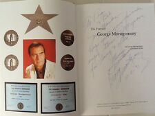 George Montgomery SIGNED Autobio Dinah Shore Westerns Movie & TV Actor Artist HC