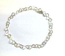 Sterling Silver Tiny Hearts Link Bracelet                                 B14443