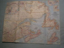 VINTAGE EASTERN CANADA WALL MAP National Geographic May 1967 MINT
