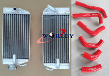 Honda CRF450R CRF450 02 03 04 Aluminum radiator and silicone hose