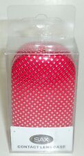 SAX RED & Silver Diamond Theme Contact Lens Case New In Box