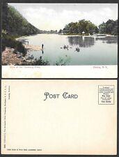 Old Postcard - Elmira, New York - View of Chemung River
