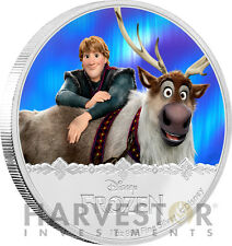 DISNEY FROZEN - KRISTOFF & SVEN - MAGIC OF THE NORTHERN LIGHTS 1 OZ. SILVER COIN